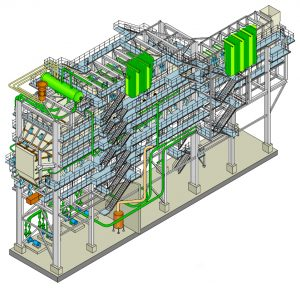 3D Rendering of Sumitomo SHI FW METALLURGICAL WASTE HEAT BOILERS, WHB